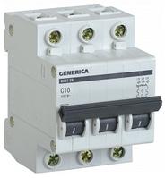 Автоматический выключатель ВА47-29 3Р 10А 4,5кА х-ка С GENERICA MVA25-3-010-C