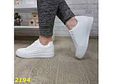 Кеды классические белые легкие 37, 38, 39 р. (2194), фото 8