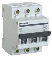 Автоматический выключатель ВА47-29 3Р 32А 4,5кА х-ка С GENERICA MVA25-3-032-C