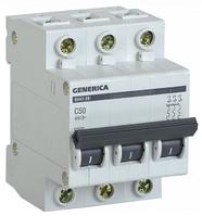 Автоматический выключатель ВА47-29 3Р 50А 4,5кА х-ка С GENERICA MVA25-3-050-C