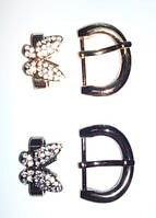 Пряжка обувная Бабочка 20 мм цвет темный никель ,  золото