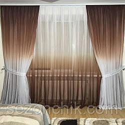Стильный комплект штор в спальню