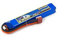 Аккумулятор для страйкбола Giant Power Li-Pol 7.4V 2S 2000mAh 25C 20х21х126мм T-Plug