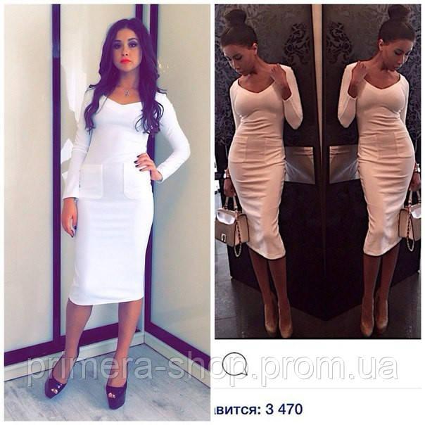 9e2b1fc35e3 Платье белое миди