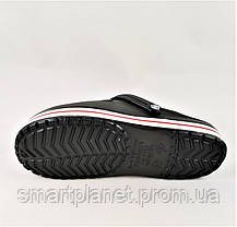 Мужские Тапочки CROCS Чёрные Кроксы Шлёпки (размеры: 44), фото 3