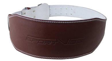 Пояс для тяжелой атлетики с экокожи SportVida SV-AG0061 (M) Braun, фото 2