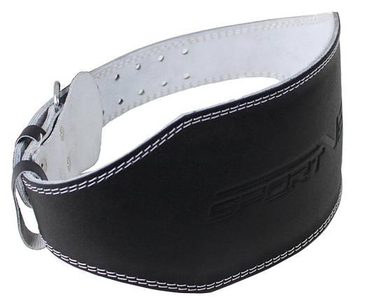 Пояс для тяжелой атлетики с экокожи SportVida SV-AG0067 (L) Black, фото 2