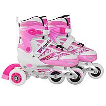 Роликовые коньки SportVida 4 в 1 SV-LG0016 Size 31-34 Pink, фото 3