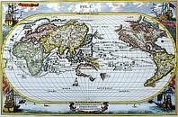 Старинная карта морская 66см х 100 см