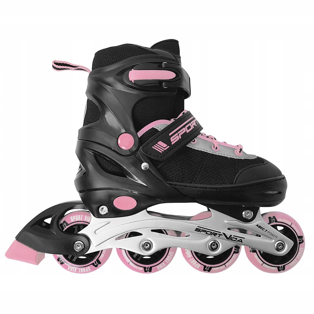 Роликовые коньки SportVida SV-UP0004 Size 38-41 Black/Pink