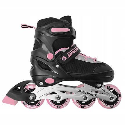 Роликовые коньки SportVida SV-UP0004 Size 38-41 Black/Pink, фото 2