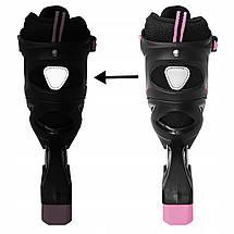 Роликовые коньки SportVida SV-UP0004 Size 38-41 Black/Pink, фото 3