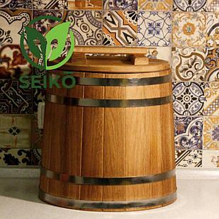 Кадка дубовая для солений Seikō™, 30 литров