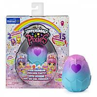 Интерактивная игрушка Hatchimals эксклюзивная Серия Вечеринка Единорогов фея-куколка + два питомц, КОД: 1462117