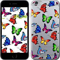 Силиконовый чехол Endorphone на iPhone 6 Plus Красочные мотыльки 4761u-48-26985, КОД: 1711924