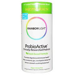 Пробиотики и Энзимы ProbioActive Rainbow Light 90 капсул 2331, КОД: 1535380