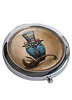 Зеркальце косметическое DevayS Maker DM 01 D 7 см Сова Коричневое 22-08-427, КОД: 1238760