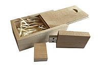 Флешка SUNROZ Wooden USB Flash Drive деревяный флеш накопитель в коробке 16 Gb USB 3.0 Светло-кор, КОД: 197140