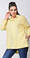 Блузка Mali-620-060/1 белорусский трикотаж, бледно-желтый, 46