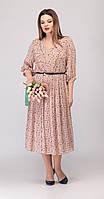 Платье Denissa Fashion-1308 белорусский трикотаж, бежевый, 50