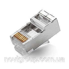 Конектор RITAR RJ-45 8P8C FTP Cat-5 екранований (100 шт / уп.) Q100