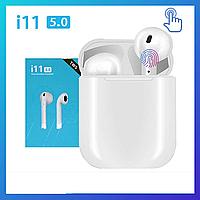 Беспроводные наушники i110-TWS с микрофоном и сенсорным управлением, беспроводная гарнитура Bluetooth наушники