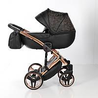 Детская коляска 2 в 1 Tako Junama Enzo Go 03 Черная на бронзовой раме 13-JEG03, КОД: 287175