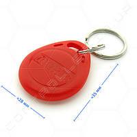Брелок RFID TK4100 125 КГц темно красный