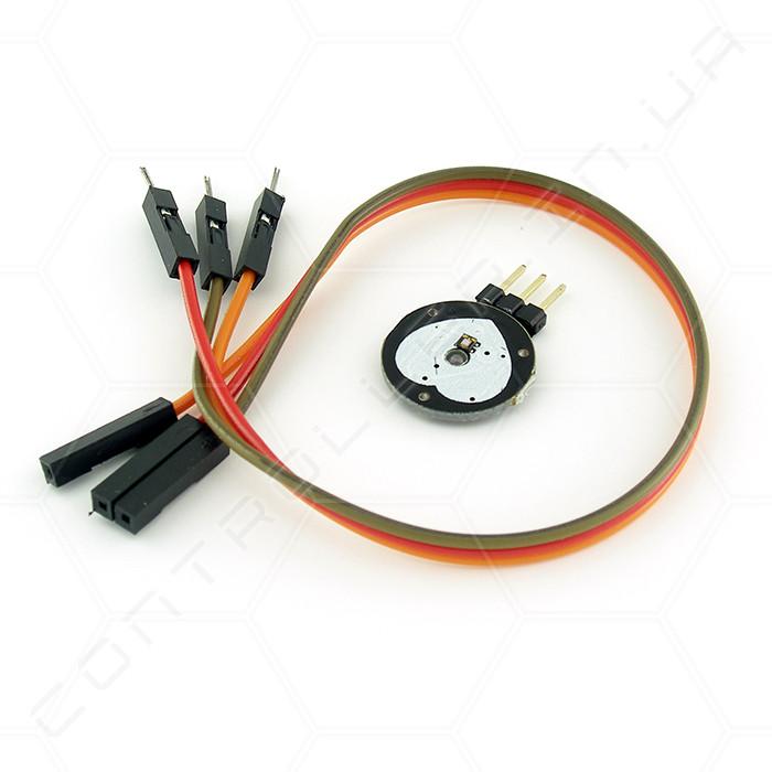 Датчик пульса сердечного ритма PulseSensor с коннектором