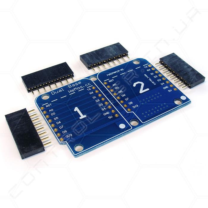 Двойной шилд для контроллера WeMos D1 mini