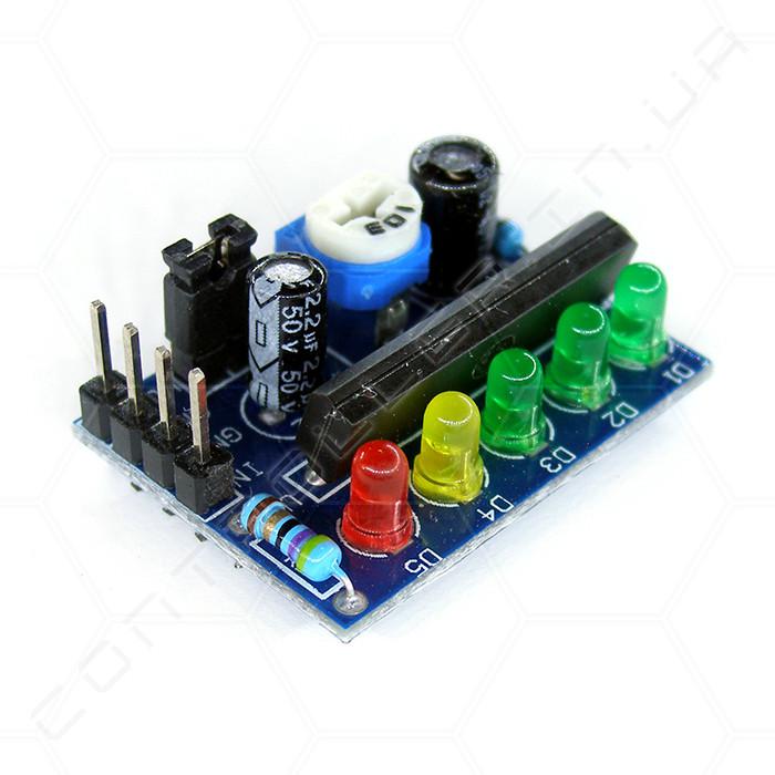 Индикатор светодиодный KA2284 уровня сигнала/заряда