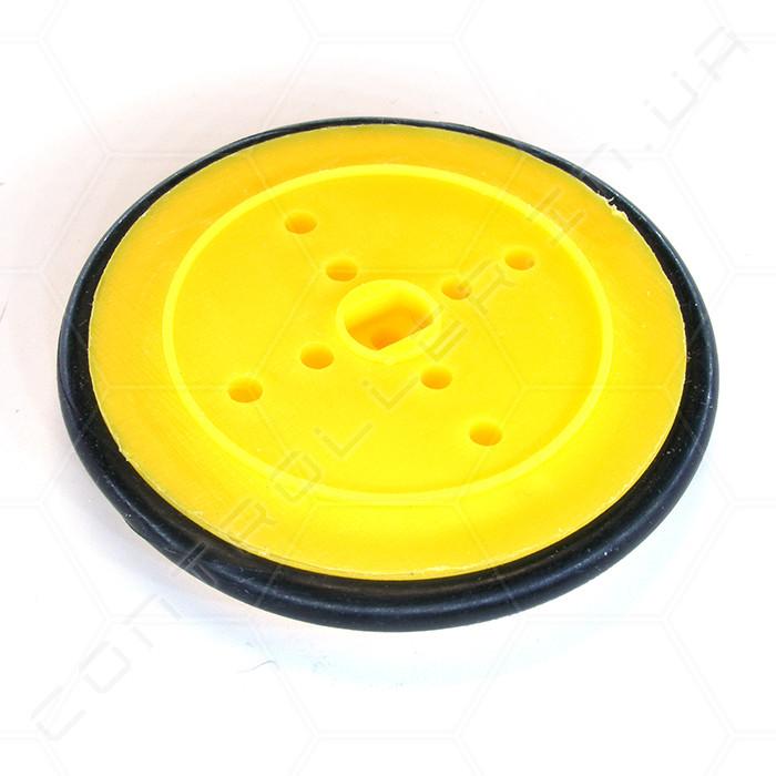Колесо пластиковое с резиновой покрышкой 39мм