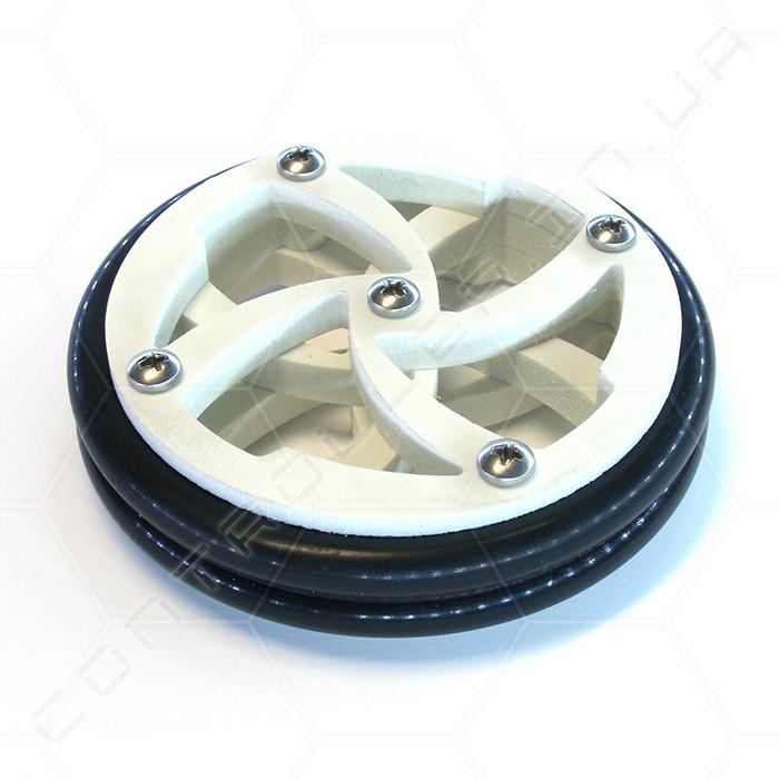 Колесо пластиковое с резиновой покрышкой диаметр 67мм толщина 15мм