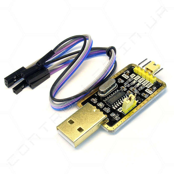 Конвертер CH340G USB-UART USB-TTL с выбором напряжения
