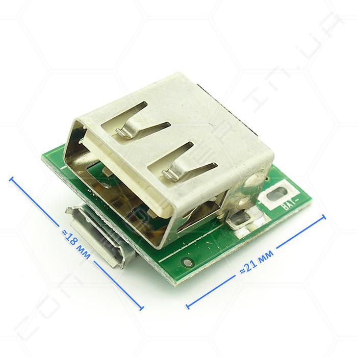 Контролер заряду Li-ion акумуляторів 134N3P з micro USB зелена