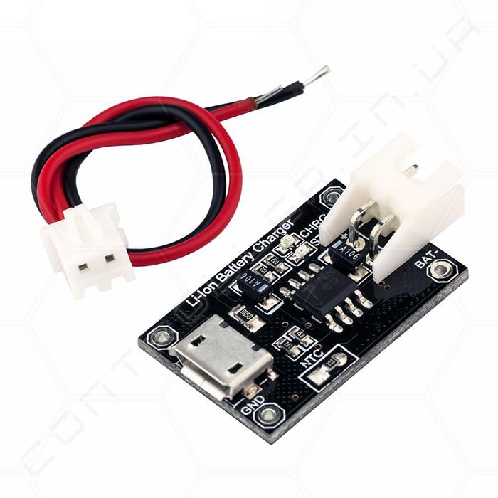 Контролер заряду Li-Ion акумуляторів TP4056 micro USB RobotDyn