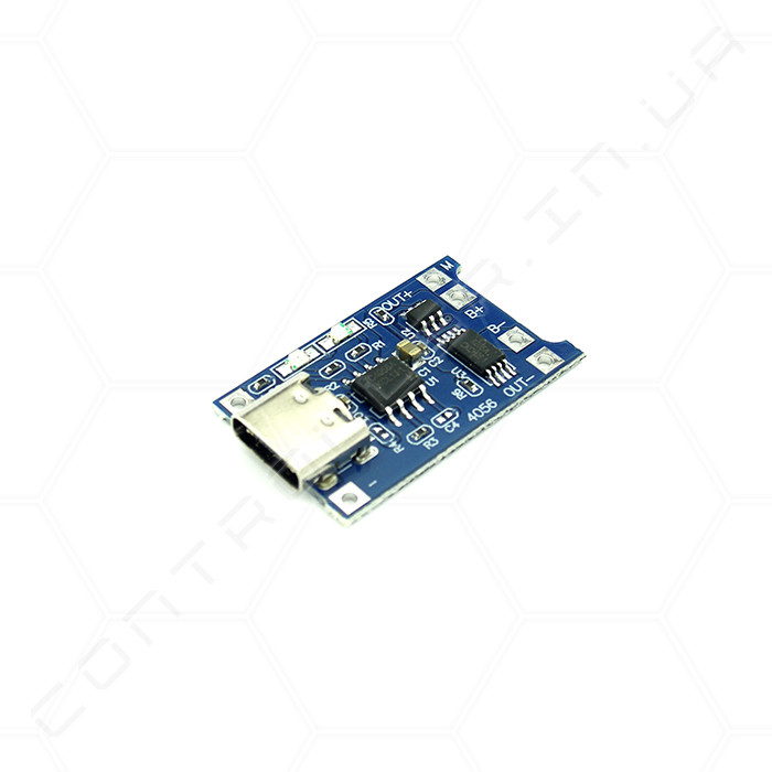 Контроллер заряда Li-Ion аккумуляторов TP4056 USB Type-C