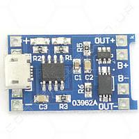 Контроллер заряда Li-Ion аккумуляторов с защитой TP4056 micro USB