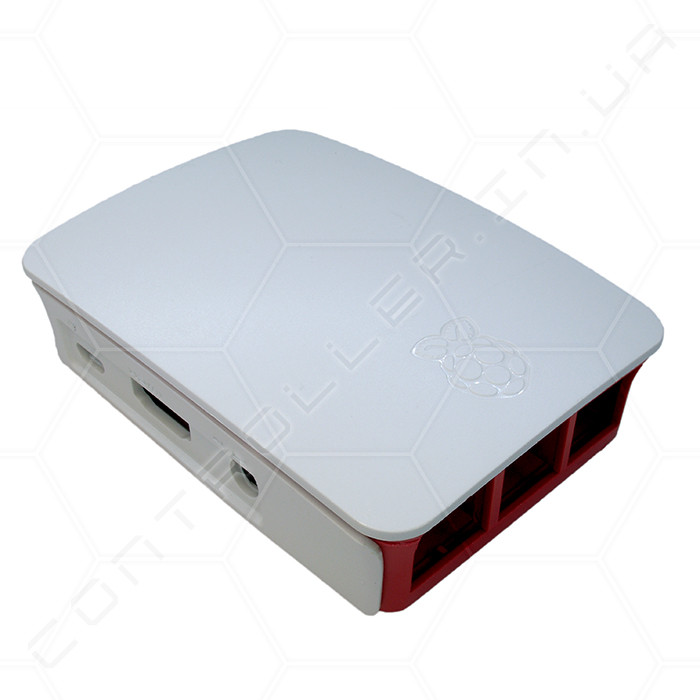 Корпус для Raspberry PI 512Mb B+, Pi 2, Pi 3  Бело-красный