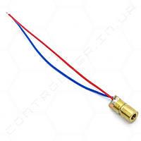Лазерний модуль 5mW 650 nm Red 5В. З регульованим фокусом.