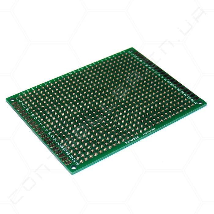 Макетная плата FR-4 70х90мм