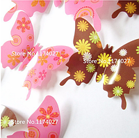 "Наклейка на стену ""12 шт. 3D бабочки наклейки"" фиолетово-синий"
