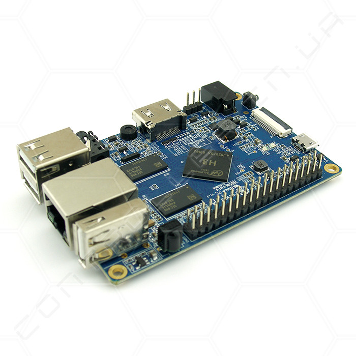 Микрокомпьютер Orange  Pi PC H3 Quad-core 1ГБ