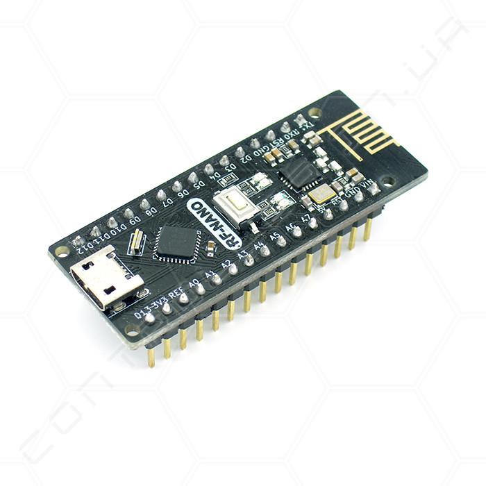 Микроконтроллер Arduino Nano 3.0 ATMega328 CH340 microUSB с NRF24l01+ 2,4G ножки припаяны