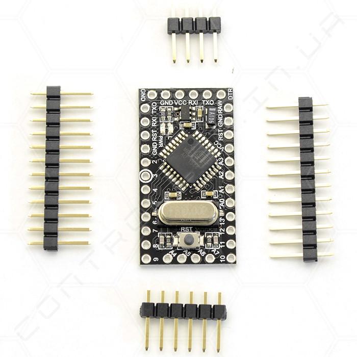 Микроконтроллер Arduino Pro Mini ATMega328 5V RobotDyn