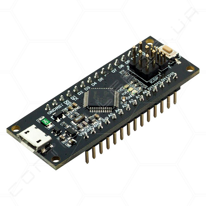 Микроконтроллер Arduino SAMD21 M0-Mini, чип 32bit ARM Cortex M0 core RobotDyn Ножки распаяны