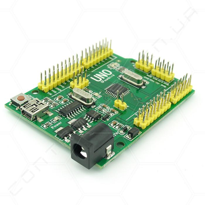 Мікроконтролер Arduino UNO R3 ATMega328P MiniUSB Green
