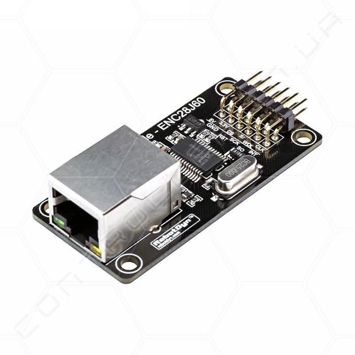 Модуль Ethernet ENC28J60 для Mini  RobotDyn