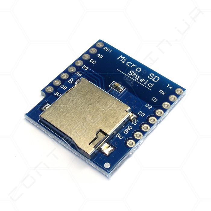 Модуль Micro SD для WeMos D1 mini