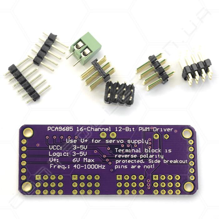 Модуль PCA9685 16-канальный с I2C интерфейсом 12-bit PWM/Servo конструктор